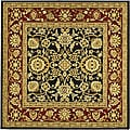 Lyndhurst Collection Majestic Black/ Red Rug (6' Square)