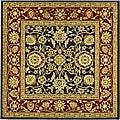 Safavieh Lyndhurst Collection Majestic Black/ Red Rug (6' Square)