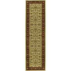 Lyndhurst Collection Majestic Ivory/ Red Runner (2'3 x 14')