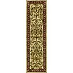 Safavieh Lyndhurst Collection Majestic Ivory/ Red Runner (2'3 x 16')