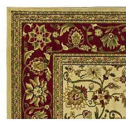 Lyndhurst Collection Majestic Ivory/ Red Rug (3'3 x 5'3)