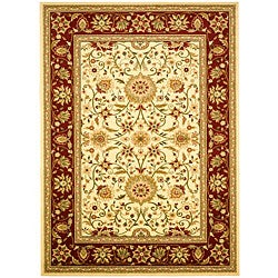 Lyndhurst Collection Majestic Ivory/ Red Rug (5'3 x 7'6)