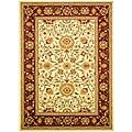 Lyndhurst Collection Majestic Ivory/ Red Rug (8' x 11')