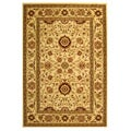 Lyndhurst Collection Majestic Ivory/ Ivory Oriental Rug (5'3 x 7'6)