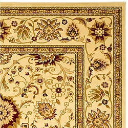 Safavieh Lyndhurst Collection Majestic Ivory/ Ivory Rug (6' x 9')
