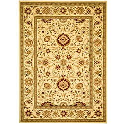 Lyndhurst Collection Majestic Ivory/ Ivory Rug (6' x 9')