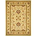 Lyndhurst Collection Majestic Ivory/ Ivory Rug (8' x 11')