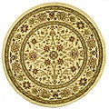 Lyndhurst Collection Majestic Ivory/ Ivory Rug (5'3 Round)