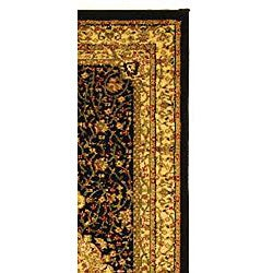 Lyndhurst Collection Mashad Black/ Ivory Runner (2'3 x 14')