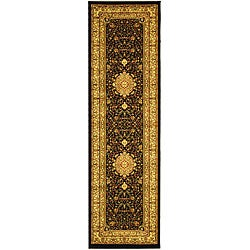 Safavieh Lyndhurst Collection Mashad Black/ Ivory Runner (2'3 x 16')