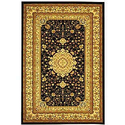 Safavieh Lyndhurst Collection Mashad Black/ Ivory Rug (6' x 9')