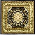 Safavieh Lyndhurst Collection Mashad Black/ Ivory Rug (8' Square)