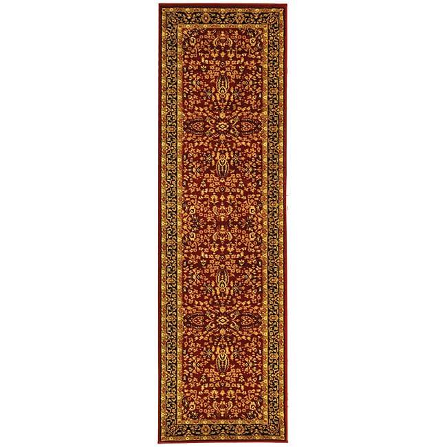 Safavieh Lyndhurst Persian Treasure Red/ Black Runner (2'3 x 14')