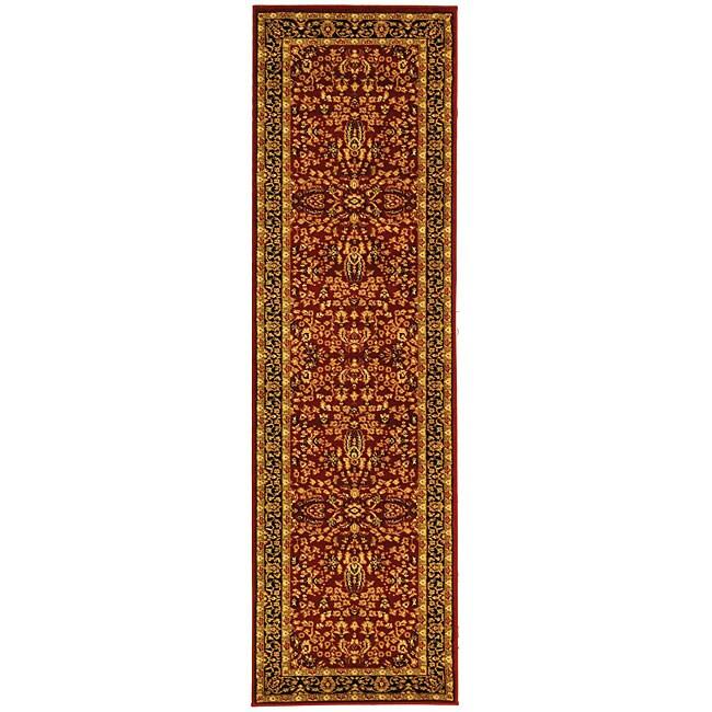 Safavieh Lyndhurst Persian Treasure Red/ Black Runner (2'3 x 16')