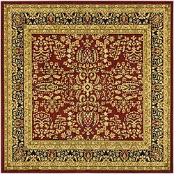 Safavieh Lyndhurst Collection Persian Treasure Red/ Black Rug (6' Square)