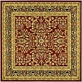 Lyndhurst Collection Persian Treasure Red/ Black Rug (6' Square)