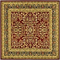 Lyndhurst Collection Persian Treasure Red/ Black Rug (8' Square)