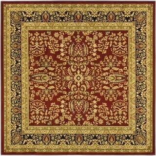 Safavieh Lyndhurst Collection Persian Treasure Red/ Black Rug (8' Square)
