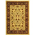 Lyndhurst Collection Tabriz Ivory/ Red Rug (6' x 9')
