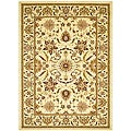 Lyndhurst Collection Heritage Ivory/ Ivory Rug (6' x 9')