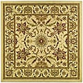 Lyndhurst Collection Heritage Ivory/ Ivory Rug (6' Square)