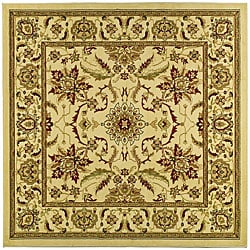 Safavieh Lyndhurst Collection Heritage Ivory/ Ivory Rug (8' Square)