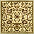Lyndhurst Collection Heritage Ivory/ Ivory Rug (8' Square)