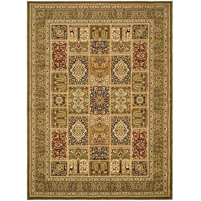 Safavieh Lyndhurst Collection Isfan Green/ Multi Rug (6' x 9')