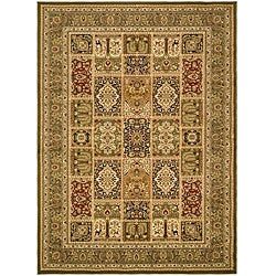 Lyndhurst Collection Isfan Green/ Multi Rug (6' x 9')