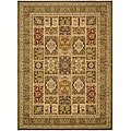 Safavieh Lyndhurst Collection Isfan Green/ Multi Rug (6' x 9')