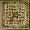 Lyndhurst Collection Isfan Green/ Multi Rug (6' Square)