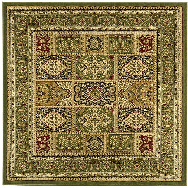Lyndhurst Collection Isfan Green/ Multi Rug (8 Square)
