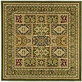 Lyndhurst Collection Isfan Green/ Multi Rug (8' Square)