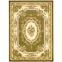 "Lyndhurst Collection Sage/Ivory Polypropylene Rug (5'3"" x 7'6"")"