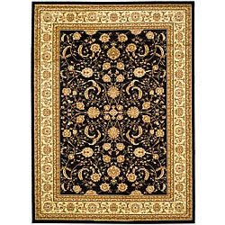 Safavieh Lyndhurst Collection Black/Ivory Area Rug (5'3 x 7'6)