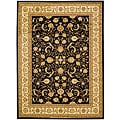 Lyndhurst Collection Black/Ivory Area Rug (5'3 x 7'6)