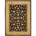 Lyndhurst Collection Black/ Ivory Rug (6' x 9')
