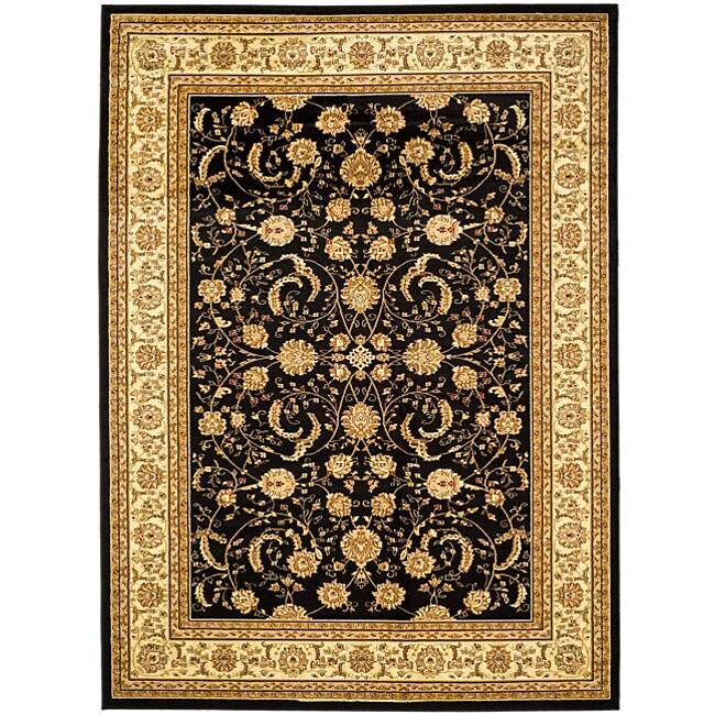 Safavieh Lyndhurst Collection Black/Ivory Rug (8' x 11')