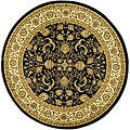 Safavieh Lyndhurst Collection Black/ Ivory Rug (5'3 Round)