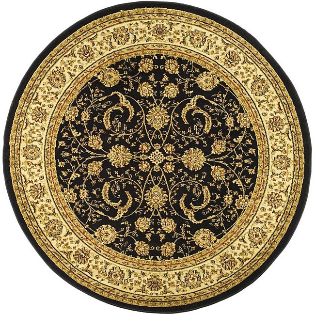 Safavieh Lyndhurst Collection Black/ Ivory Rug (8' Round)