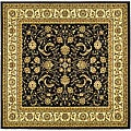 Lyndhurst Collection Black/ Ivory Rug (6' Square)