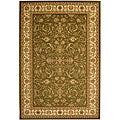 "Lyndhurst Collection Traditional Sage/Ivory Rug (5'3"" x 7'6"")"