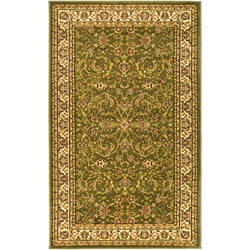 Lyndhurst Collection Sage/Ivory Polypropylene Rug (8' x 11')