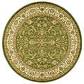 Lyndhurst Collection Sage/ Ivory Rug (5'3 Round)