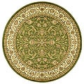 Lyndhurst Collection Sage/Ivory Oriental Rug (8' Round)