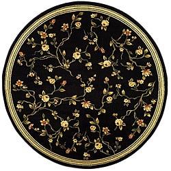 Safavieh Lyndhurst Collection Black Rug (5'3 Round)