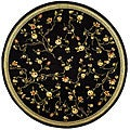 Lyndhurst Collection Black Rug (5'3 Round)