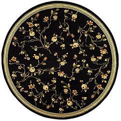 Safavieh Lyndhurst Collection Black Rug (8' Round)