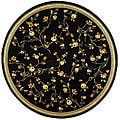 Lyndhurst Collection Black Rug (8' Round)