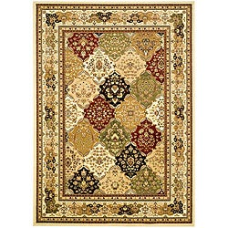 Lyndhurst Collection Multicolor/ Ivory Rug (5'3 x 7'6)